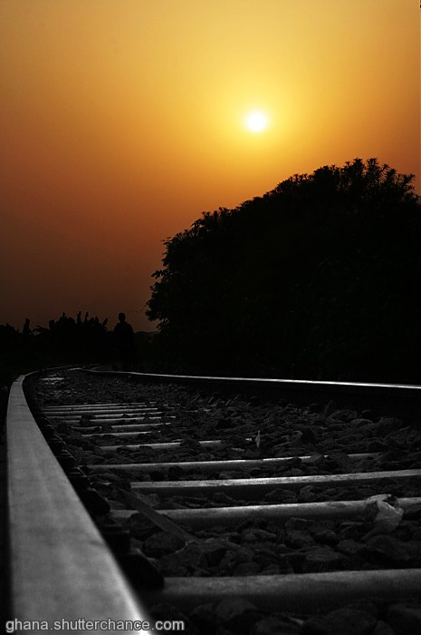 photoblog image sun set on rails